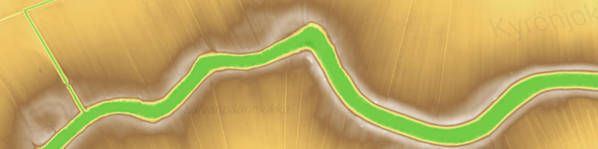 Exaggerated 2 m DEM in flat Ostrobothnia, GeoPortti by Lassi Lehto
