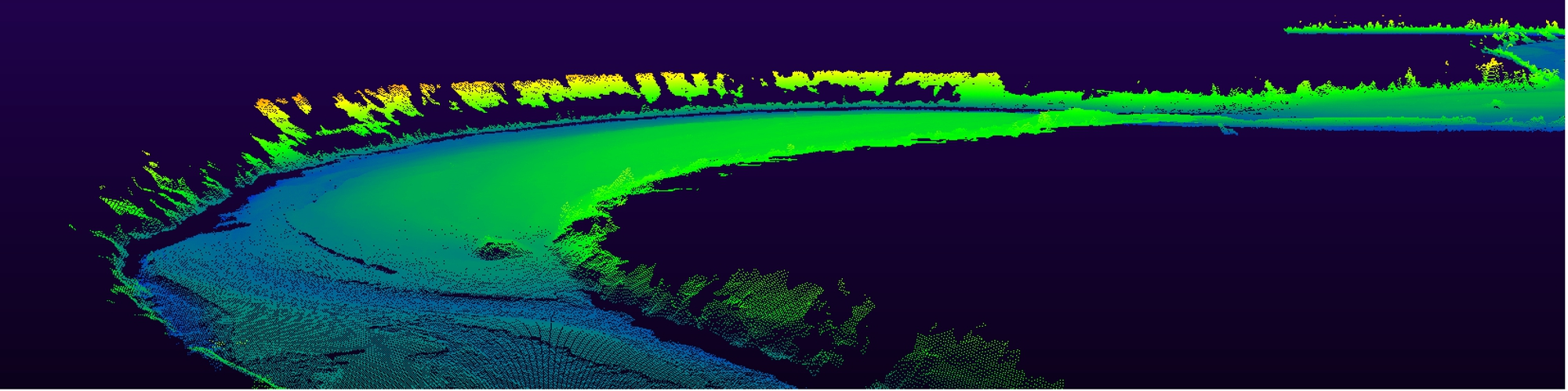 Point cloud from the Pulmankijoki River in Finnish Lapland by the University of Turku  Fluvial and Coastal Research Group.